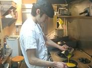 キッチンスタッフは料理の腕がドンドン上達します↑↑フワフワオムライスを自慢できちゃいます♪