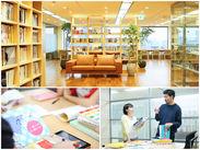 成長企業のクリエイティブ会社。全国4拠点(東京、大阪、京都、金沢)にオフィスを構え、海外展開も進めています。