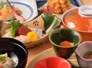 四季折々の食材が楽しめる京料理。 ランチは御膳のセットが大半なので、配膳も難しくありません◎ 扶養控除内での勤務もOKです!