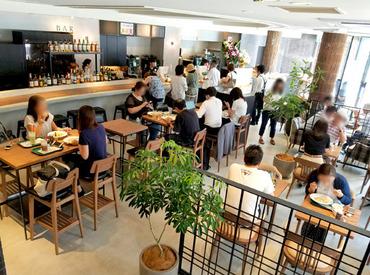 お洒落&ゆったりくつろげるお店♪ ★カフェタイムは癒し空間 ★バータイムはオトナ空間 バリスタ&バーテンダーも目指せます!