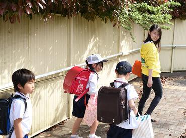 近隣の学校へお迎えに!! 安全に気を付けて、教室へ誘導しましょう◎