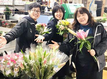 ≪学生~主婦(夫)までみ~んなWELCOME≫ 取り扱うのはお花なので 「重たくて大変」なんて心配ナシのシンプルWORK★