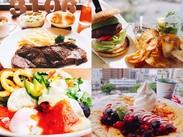 3106キッチンではバラエティに富んだメニューを提供しています!季節を感じる料理やスイーツでおもてなし。・+*