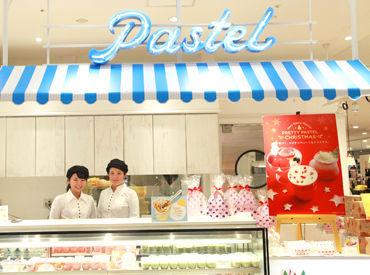 【デザート販売】*人気のSHOPが2月にリニューアル*甘い香りでいっぱい♪かわいいデザートに囲まれて笑顔で過ごせる◎NEWバイト始めよう!!