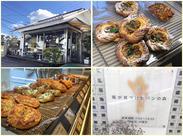 オリジナルパンが人気の≪風が見つけたパンの森 ≫ 温かみのある店内には80~100種類のパンが♪ 毎日食べても飽きないパンです♪