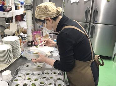 準備・片づけなど簡単な業務がメインなので調理のスキルは一切不要です◎ 主婦(夫)さん・シニア層の方など、皆さん歓迎します!!