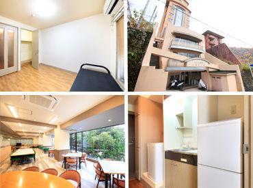 ↑こちらが寮の写真です! 勤務地まで徒歩圏内◎ 8畳ある綺麗なお部屋が… なんと、光熱費含め、全て無料★
