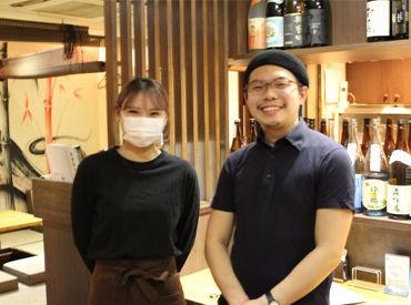 上京STAFF活躍中♪初バイトさん歓迎! 昇給制度もバッチリ★半年ほどで時給UP! 時給1300円のSTAFFも活躍しています♪