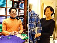 海外からのお客様も多く、英語や中国語を活かして働けます。男女年齢問わず、個性豊かなスタッフが活躍中!