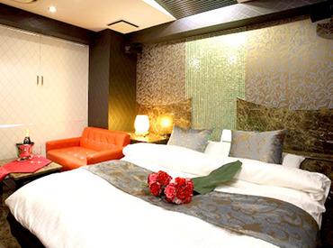 20~50代の方活躍中★ リニューアル済みのオシャレなホテル+。・゚ お部屋もとってもキレイだから、 お仕事は楽チンです♪♪