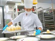 レストラン・パーティーを彩るお食事! その中のデザートを担当していただきます! アナタのスキル・経験を活かして働けます♪