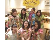 ハワイアンの朝食がいつでも楽しめる人気店です♪特にふわふわホイップのパンケーキで有名!スタッフは社割で食べれます☆