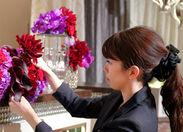 最初は先輩がマンツーマンでしっかりフォローします!『お花が好き』『生け花やってみたい』最初はそんな志望動機でOK◎