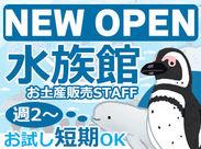 <6/26 OPEN!>海と水族館が融合したオシャレさが話題♪シロイルカやマゼランペンギンが可愛い~◎動物達に癒されながらお仕事!