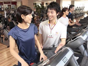 お客様へのトレーニングマシンの使用説明などを行います。 身体を動かして働きたい方大歓迎!