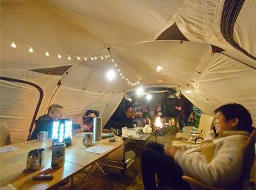 オープン前にキャンプに行ってきました! 自分達も楽しみながら、 お客様にキャンプの楽しさを広めましょう★
