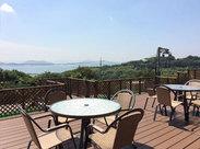 移転したばかりの新社屋は とってもキレイ。*☆ 社内や食堂のテラスからは 瀬戸内海が一望できます!