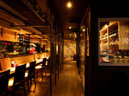 ムード高まる照明もGood★昨年のオープン以来、たくさんのお客さまに愛される店舗になりました◎
