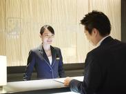 新年からNEWバイト◎接客のお仕事が始めての方でもイチからしっかりレクチャー☆ホテルフロントで接客を勉強できますよ!