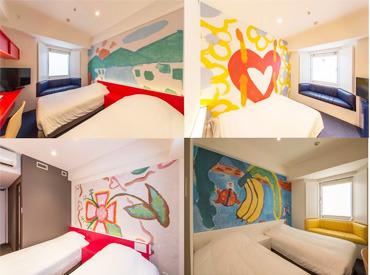 【ベッドメイク】\全80部屋、ぜ~んぶ違うデザインのホテル/まるで美術館にいるような気分…♪気さくな先輩STAFFが優しくフォローします◎