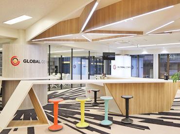 *◆グローバルな会社で働きませんか?◆* オフィスは内装も外装もとってもきれい♪ ドリンクも飲み放題です◎