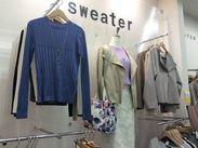 """気さく仲間と一緒に、お洒落バイトスタート♪イオン店内の""""sweater(セーター)""""でウキウキお仕事始めませんか☆"""