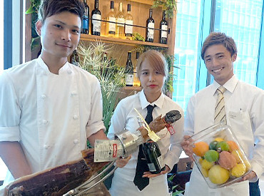 【バルSTAFF】東京で話題スペインバル★「13Fの夜景が素敵♪」しかも賄いはスペイン料理!!休憩時間・お仕事終わりにぜひ♪未経験でも◎