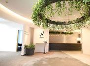オフィスは緑が多く、とっても*キレイ* 4月に恵比寿へ移転したてのおしゃれなオフィスでリフレッシュしながら働けます◎