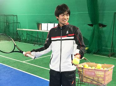 テニスや子供が好きな方にピッタリ◎ スクールの常連さんと仲良くなれるのが楽しかったり テニスでリフレッシュできるのも魅力★