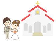 幸せいっぱいの結婚式場内でのお仕事♪結婚式が行われる土日のみ勤務もOK◎週2/3h~だからプライベートも邪魔されません♪