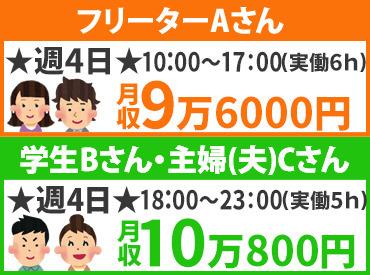【ホール】深夜時給はMAX1500円で稼ぎまくれる(^v^)初バイトもお任せあれ!★月給19万円~★正社員も同時募集!
