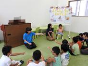 一緒に歌を歌ったり、宿題のサポートをしたり…。子どもたちの「わかった!」「できた!」が嬉しいお仕事♪