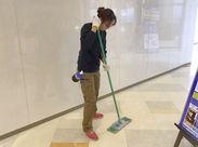 毎回同じ場所に行ってお掃除するので、スグに慣れることができますよ♪拭き掃除や掃き掃除など誰でもできちゃうシンプルワーク◎