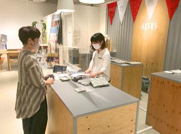 「ACTUSに住みたい!」 そんなスタッフ・お客様がいらっしゃるほど、居心地最高の店内◎ 皆様から愛されているお店なんです♪
