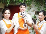 可愛いワンちゃんやネコちゃんのお世話などをして頂くお仕事♪ 動物好きの方、人とお話しするのが好きな方にお勧め!
