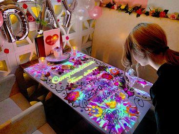 SNSで話題のテーブルアート♪恵比寿駅近!!誕生日・記念日にはもってこいです‼