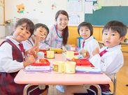 子ども達も職員もみんな明るく元気な雰囲気でチームワークもバッチリです★ お子様だけでなく、職員も一緒に成長できる環境です!