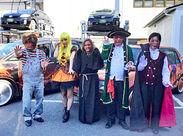 今年も【ハロウィンタクシー】の季節がやって来た★ 毎年数台が仮装して街を走ります◎ メディアで紹介されるほど人気なんです!