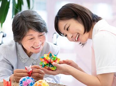 家庭との両立や、働きながら介護資格取得を目指している方など自分にあった働き方ができます◎