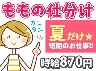 桃シーズン限定★ 日本郵便で【短期】バイトしませんか♪