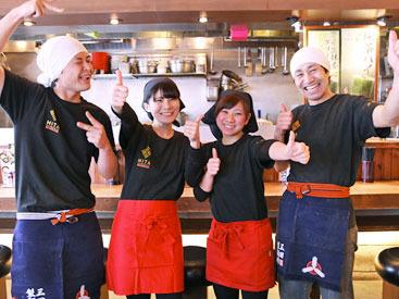 「バイト先選びで重要視するのは、人間関係!」三田製麺所は、そんな方にもオススメ★和気藹々&チームワーク抜群のお店です◎