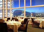 表参道駅からすぐ! アートなお洒落ビル「スパイラル」の 最上階のレストランラウンジです。 夜景もきれいに見える人気店★