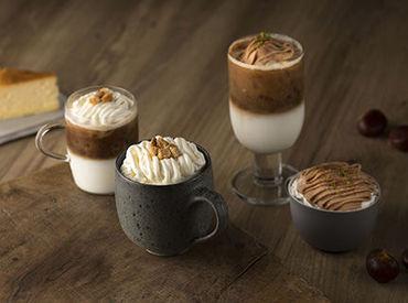 【カフェSTAFF】―― 語学力も自然と身につく♪◇.:*゚アットホームな雰囲気の中、コーヒーの香りに囲まれてお仕事◎<未経験OK◆経験者歓迎>