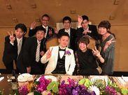 ≪仲間もたくさんできる!≫ここで一生の仲間ができたという先輩STAFFさんの声も♪これは卒業生の結婚式の写真です☆★