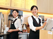 サクッと短時間勤務もOK♪プライベートと両立できる欲張りバイト!コーヒーのいい香りに囲まれながら働きませんか?
