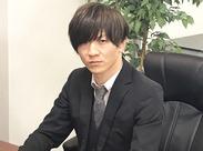 「代表の篠崎です!僕のコーチングの資格・経験をもとに作った『スクリプト(架電マニュアル)』で未経験の方も活躍できます!」