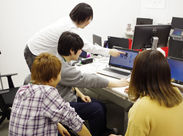 スタジオ内の雰囲気は良好!休憩時間はゲーム等の話題で盛り上がることも!?好きなゲーム・アプリをプレイするのが仕事に!