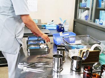 滅菌スタッフとは…? 手術や診察で使用する道具を滅菌するとっても大切なお仕事です! 特別な知識はスキルは必要なし★