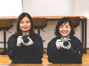 カメラの知識などは無くても大丈夫◎ カメラに少しでも興味がある方にぴったり♪ 経験が無くてもすぐに覚えられるお仕事です*