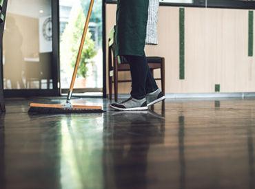 フロアなどの清掃業務!! 年齢や経験関係なく活躍できますよ! まずはお気軽にご相談ください。 ※写真はイメージです。